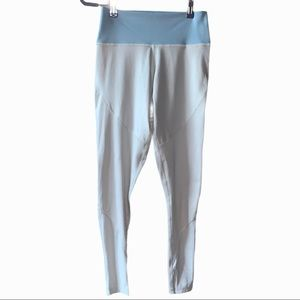 Adidas 7/8 leggings light gray and blue perforated